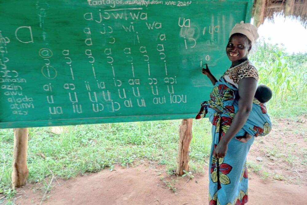 alphabétisation du groupement de femmes AYIDEKON